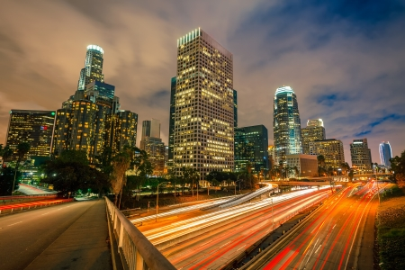 Los Angeles at night Stock Photo - 15700618
