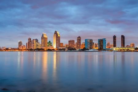 San Diego la nuit Banque d'images