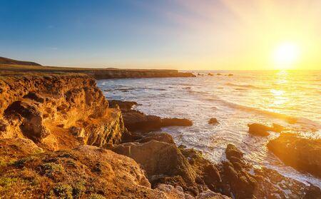 monterey: Big Sur at sunset