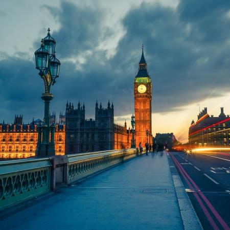 Big Ben at night, London 写真素材