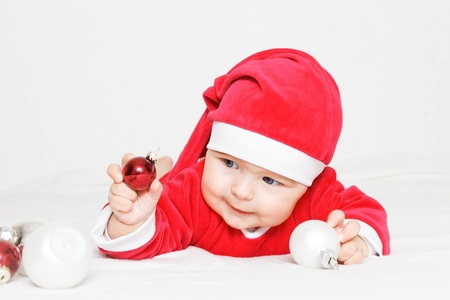 Baby in Santa Claus costume Stock Photo - 16118527