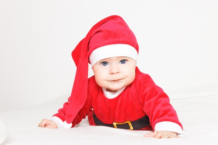 Baby in Santa Claus costume Stock Photo - 16118526