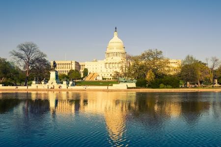 US Capitol, le soir, Washington DC