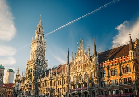 Nouvel hôtel de ville à Munich, Allemagne