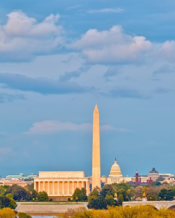 Lincoln memorial and US Capitol, Washington DC photo