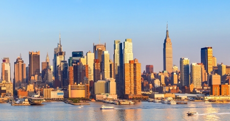 new scenery: Manhattan Skyline over Hudson River