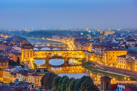 Les ponts sur l'Arno à Florence, Italie Banque d'images
