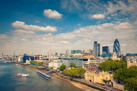 london city: Aerial view of London City