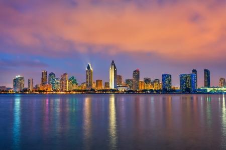 Centre-ville de San Diego la nuit