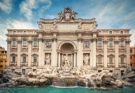 rome italy: Fountain di Trevi in Rome, Italy Editorial