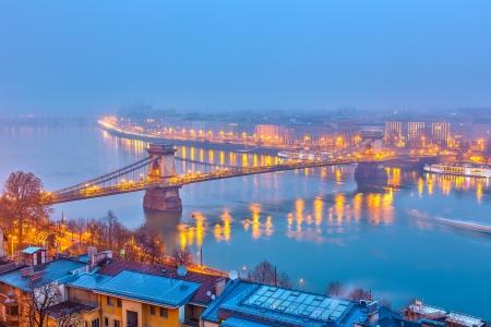 Night view of Budapest, Hungary Stock Photo - 21448596