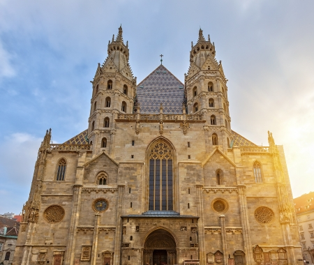 cathedral: St  Stephan cathedral in Vienna, Austria