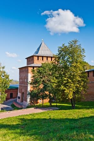 gorky: Ivanovskaya tower of Nizhny Novgorod Kremlin, Russia