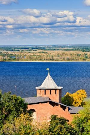 gorky: Belaya tower of Nizhny Novgorod Kremlin, Russia Editorial