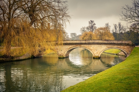 Bridge over Cam river, Cambridge University photo