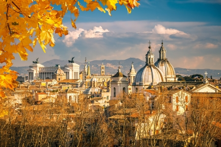 View of Rome from Castel Sant Stock Photo