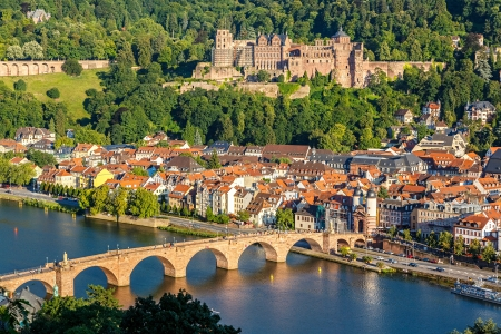 Vue sur Heidelberg (Allemagne)  Banque d'images