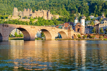 Bridge in Heidelberg, Germany photo