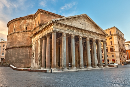 Famous Pantheon in Rome, Italy Фото со стока