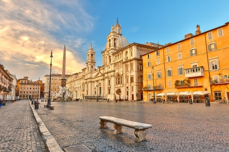 Piazza Navona in Rome, Italy Stock Photo