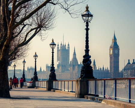 famous place: Big Ben and Houses of parliament in London, UK