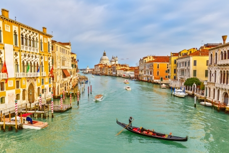 Gondola on Grand Canal in Venice, Italy Stock Photo - 22495163