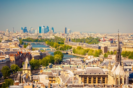 la defense: Paris form Notre Dame cathedral