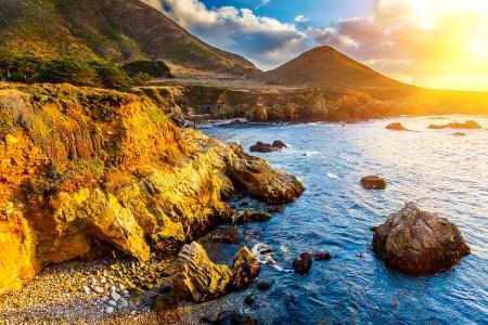 Côte de l'océan Pacifique, Californie, USA Banque d'images