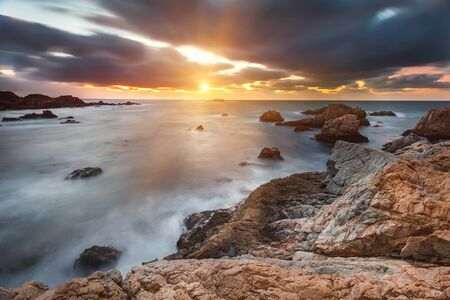 monterey: Pacific Ocean coast, California, USA Stock Photo