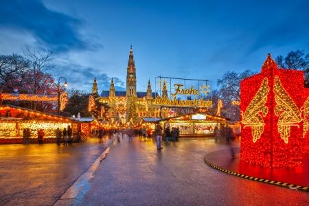 Traditionnel marché de Noël à Vienne, Autriche