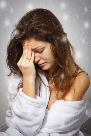 Young woman suffering from depression photo