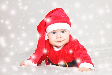 Baby in Santa Claus costume photo