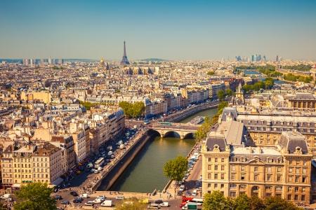 la defense: Aerial view of Paris, France