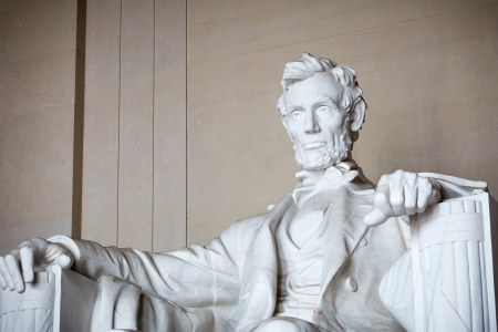 abraham lincoln: Statue of Abraham Lincoln, Lincoln Memorial, Washington DC Stock Photo