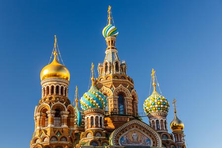 ロシアのサンクトペテルブルクで血の上の救世主教会