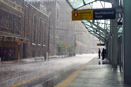 calgary: Rainy day in Calgary, Canada