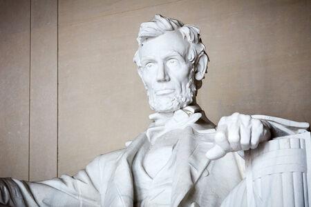lincoln: Statue of Abraham Lincoln, Lincoln Memorial, Washington DC Stock Photo