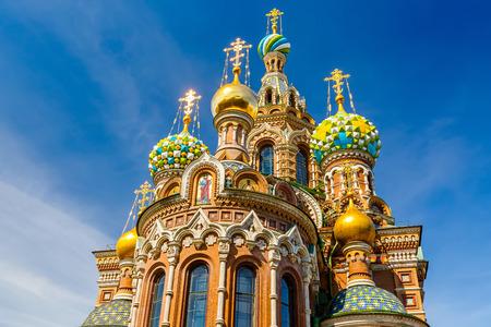 サンクトペテルブルク、ロシアでこぼれた血の上の救世主教会