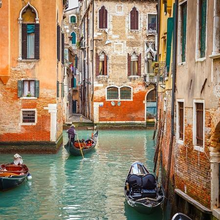 gondola: Narrow Canal in Venice, Italy