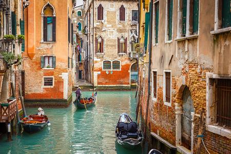 Narrow Canal in Venice, Italy photo
