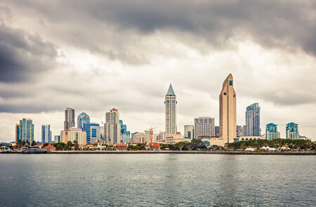 Downtown San Diego at cloudy day Reklamní fotografie