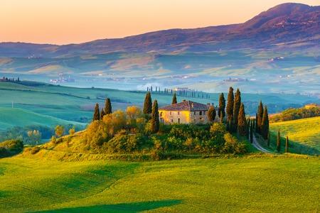 トスカーナ州、イタリアの美しい風景 写真素材