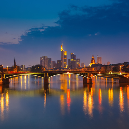 Frankfurt am Main at night, Germany photo