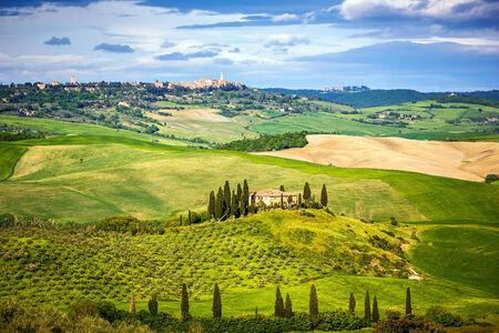 agriturismo: Beautiful landscape in Tuscany, Italy
