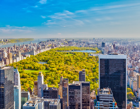 cenital: Ver en el parque central de Nueva York Foto de archivo