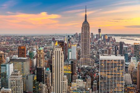 Manhattan vue aérienne Banque d'images