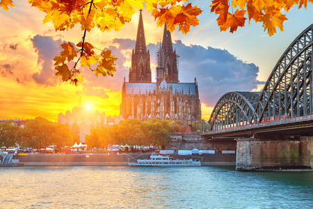 Cologne at sunset photo