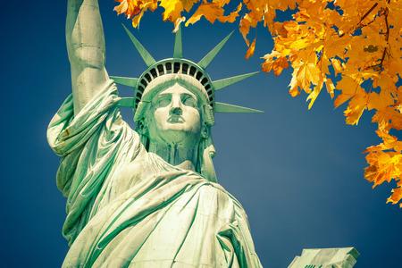 liberty island: Statue of Liberty Stock Photo