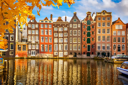 the fall: Old buildings in Amsterdam
