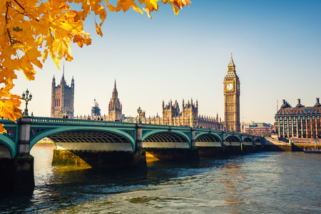 city of westminster: Big Ben and Houses of parliament, London